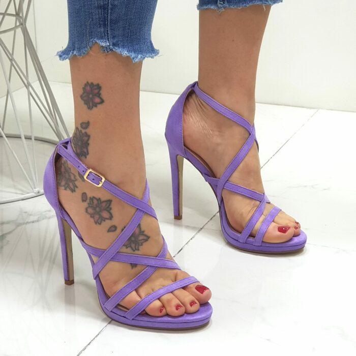 sandali tacco sottile