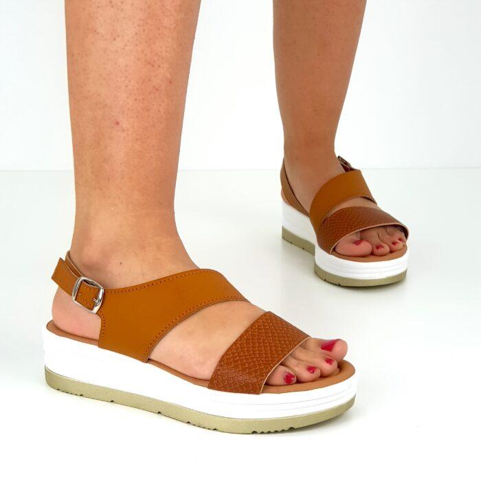 sandalo zeppa da donna