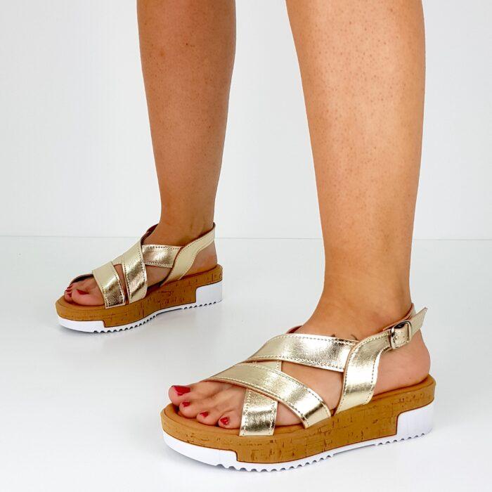 sandalo donna oro