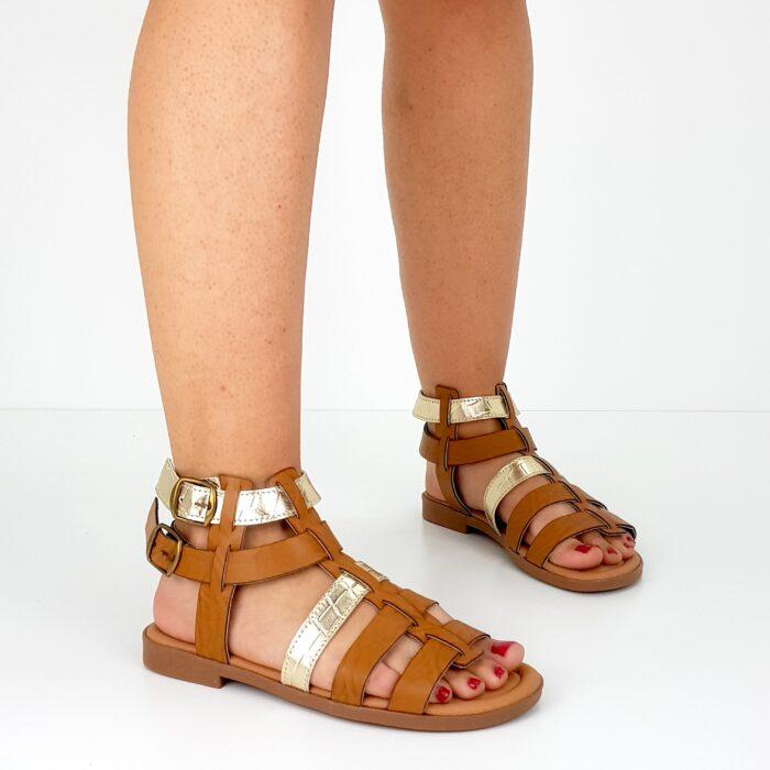 sandalo basso da donna