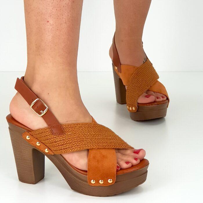 sandalo tacco largo 10