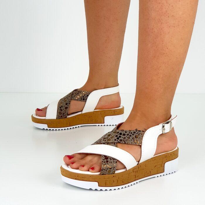 sandali bianchi da donna