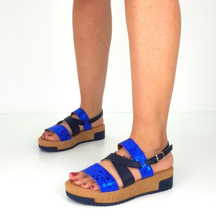 sandalo da donna con zeppa