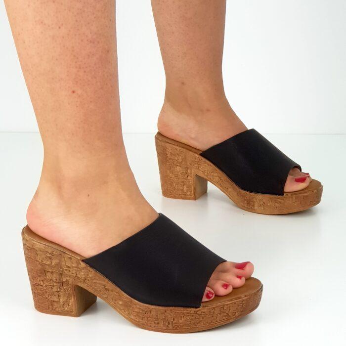 sandalo tacco largo 8