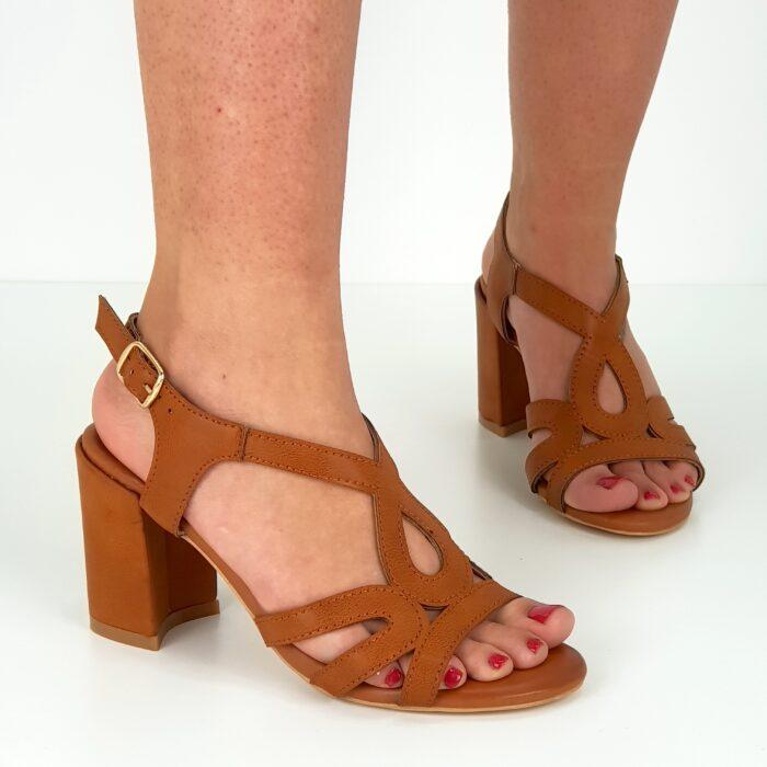sandalo tacco largo da donna