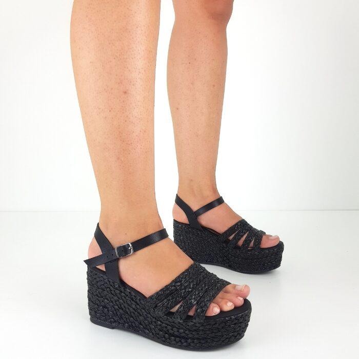 sandali con zeppa corda