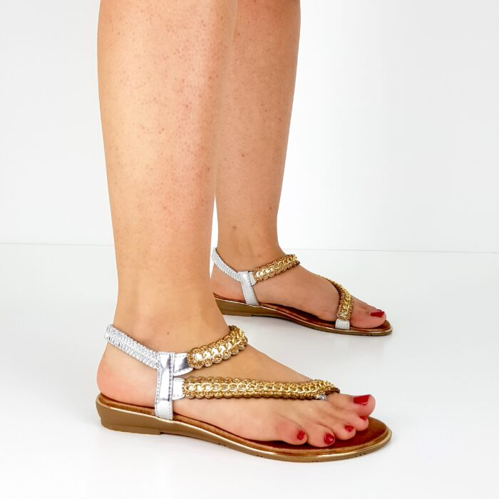 sandali bassi gioiello