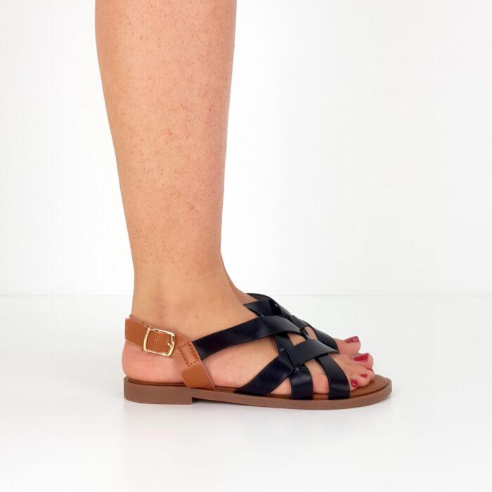 sandali bassi incrociati